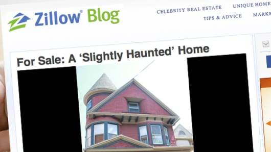 "Ad for a ""Slightly Haunted"" home on Zillow"
