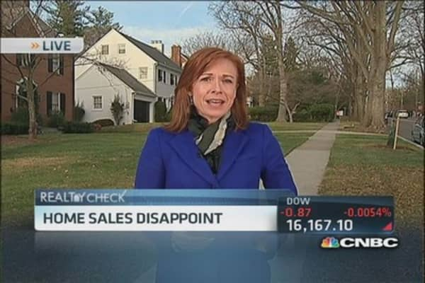 Existing home sales down 1.2%