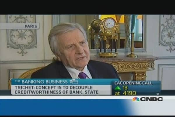 Banking union is 'work in progress': Trichet