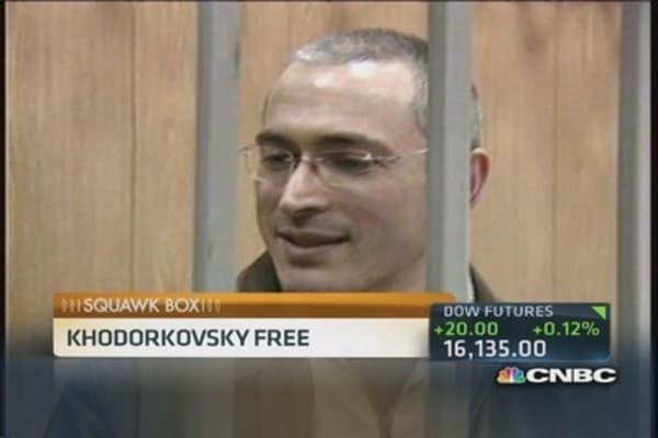Khodorkovsky free; boards plane for Germany: Report