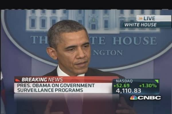 President Obama: I have confidence NSA 'not snooping'