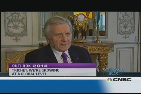 Economy growing on global level: Former ECB president