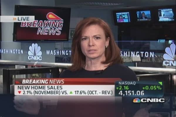 November new home sales down 2.1%
