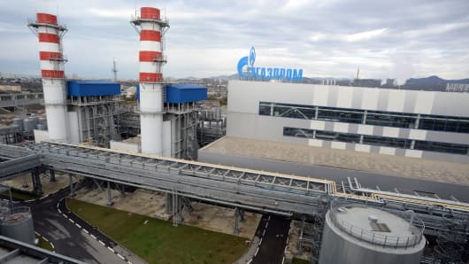 A view of Gazprom's recently built Adler thermal power plant in Sochi.
