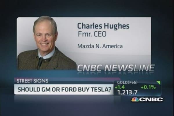 Should GM or Ford buy Tesla?