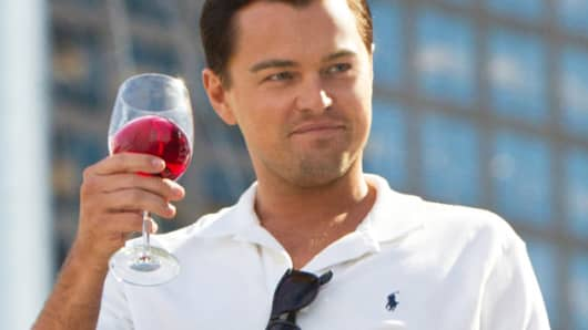 Leonardo DiCaprio in 'The Wolf of Wall Street'