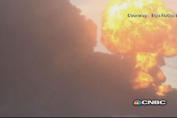 Oil train derailment in Casselton, ND