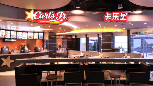Carl's Jr. restaurant in Shanghai.