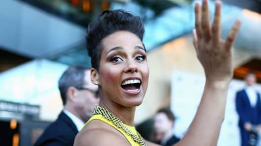 Alicia Keys at an event in Sydney in December.
