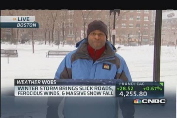 2014's first big winter storm slams Northeast