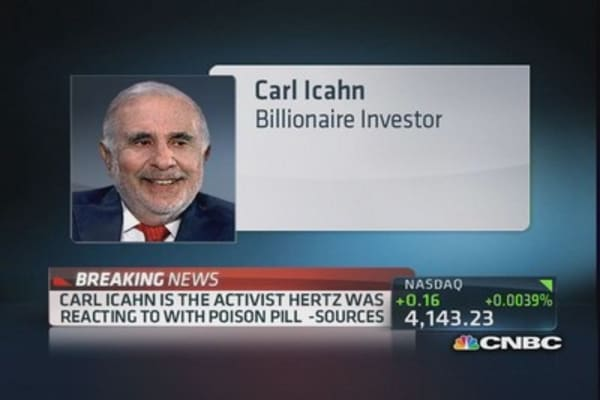 Icahn activist behind Hertz 'poison pill' reaction