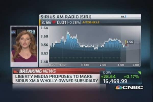 Liberty Media's proposal to Sirius XM