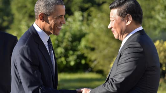 US President Barack Obama and Chinese President Xi Jinping.