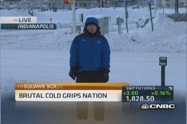 Arctic blast puts nation in deep freeze
