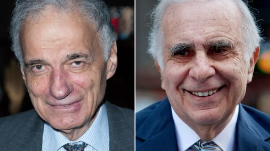 Ralph Nader (L) and Carl Icahn (R)