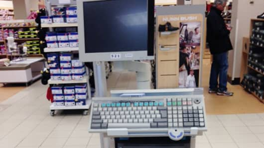 A great example of underinvestment at Sears – an IBM computer. Oh, and it's unmanned.