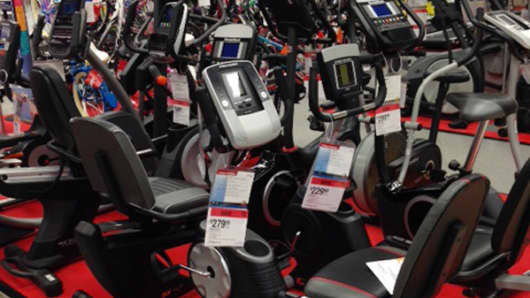 Are you fit enough to hurdle these machines to browse the fitness aisle?