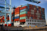Container ship Port of Virginia trade