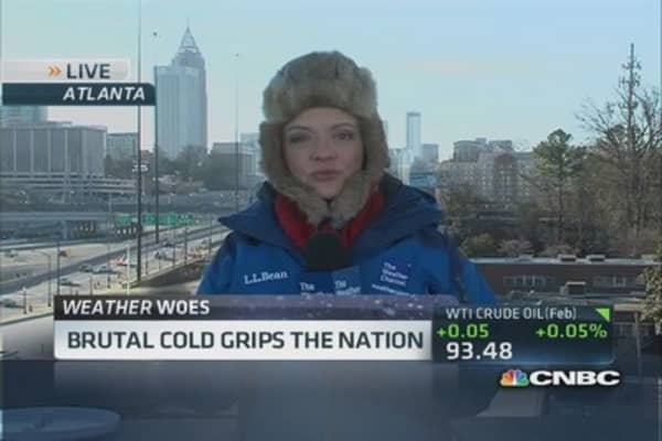 Brutal cold grips the nation