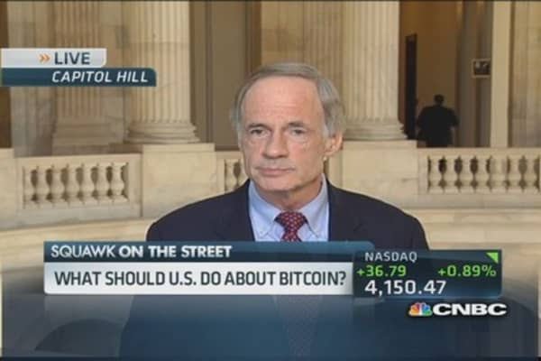 Sen. Carper: Bitcoin has benefits