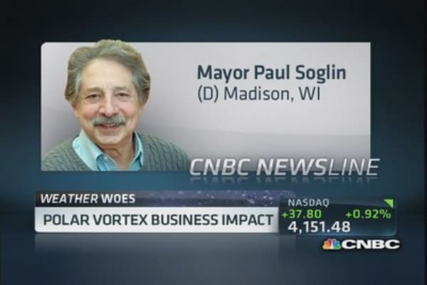 Polar vortex business impact