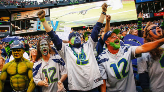 Fans of the Seattle Seahawks, one of the possibilities for this year's Super Bowl.