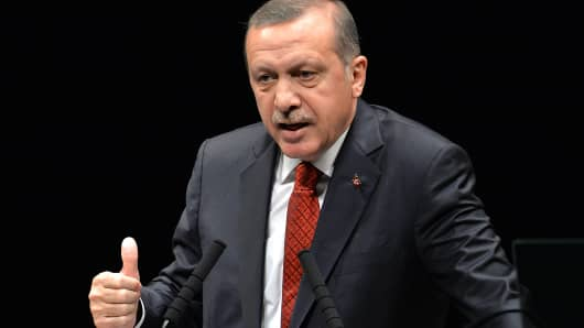Turkish Prime Minister Recep Tayyip Erdogan, Jan 7, 2014.