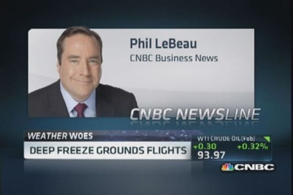 Polar vortex snarls air travel