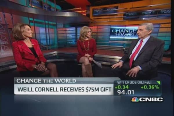 Weill Cornell's $75M 'precision' gift