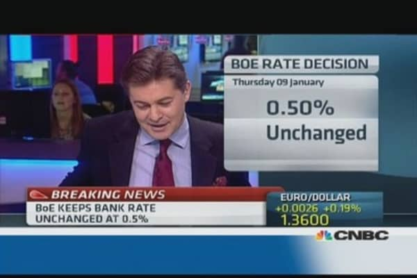 BoE leaves rates unchanged: The reaction