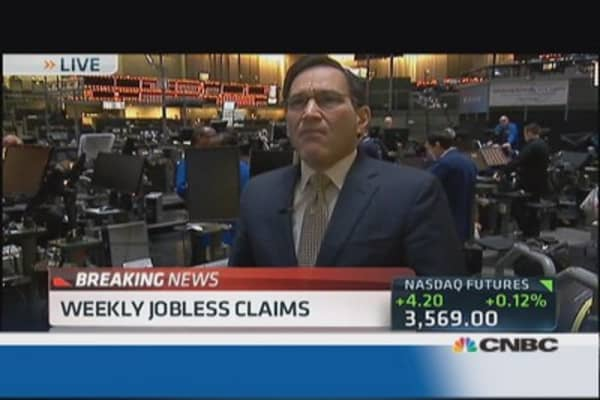 Jobless claims moved down 15K to 330,000