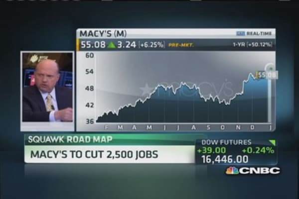Cramer: Macy's winner, Family Dollar loser