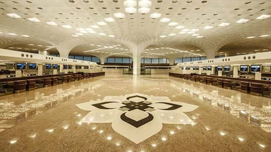 The revamped Chhatrapati Shivaji International Airport, Mumbai, Maharashtra, India.