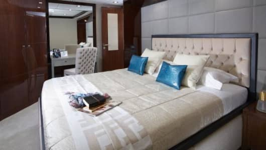 Fendi interior on the Princess 32M