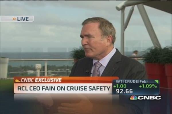 Provide amazingly safe vacation: Royal Caribbean CEO