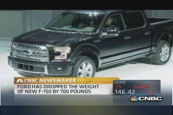 Ford unveils aluminum F-series pickup