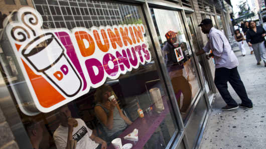 Dunkin' Brands plans to open hundreds of new stores in the U.S. and internationally this year.