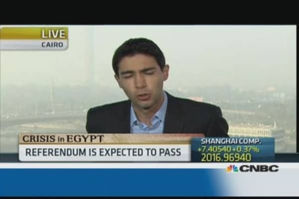 Egyptians vote on a new constitution