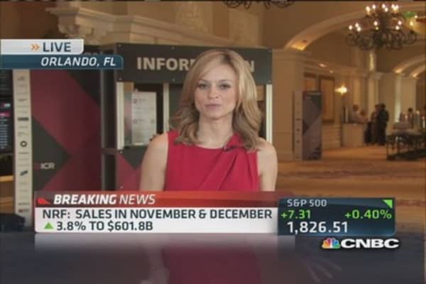 NRF: Holiday sales up 3.8% to $601.88
