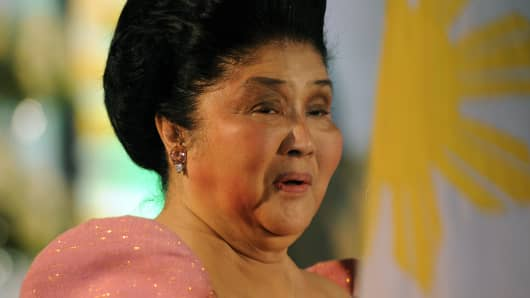 Philippines former first lady Imelda Marcos.