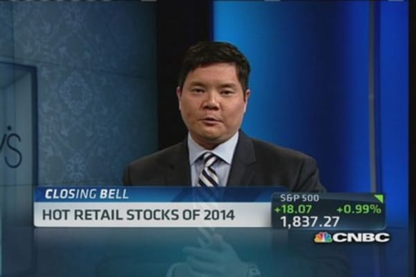 Hot retail stocks of 2014