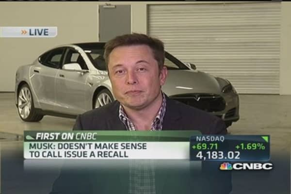 Tesla CEO: Don't need to bring your Model S in