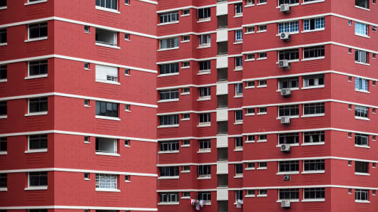 Public housing, or HDB, blocks in the Redhill area of Singapore