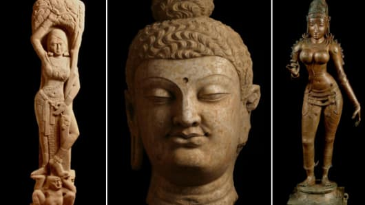 These artifacts are among items that authorities say were seized in an art theft ring involving Subhash Kapoor.