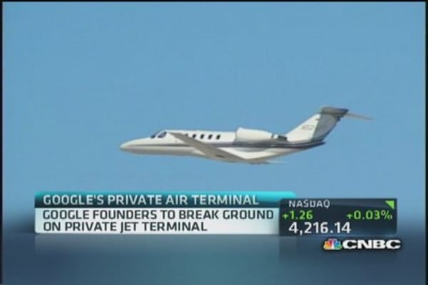 Private jet center for Google