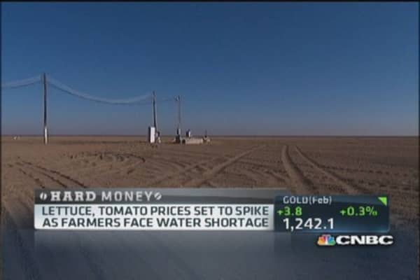 California drought spikes lettuce and tomato prices