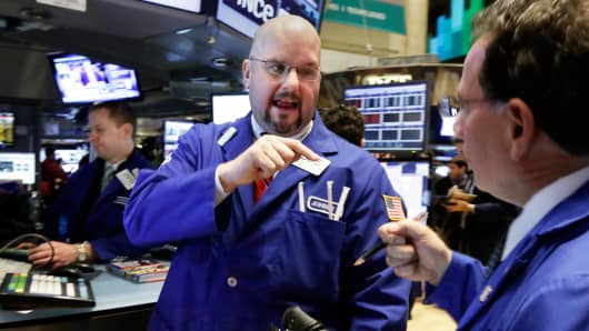 Traders on the floor of the New York Stock Exchange
