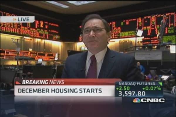 December housing starts down 9.8%