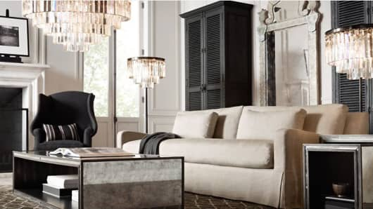 Restoration Hardware display from the company's website.