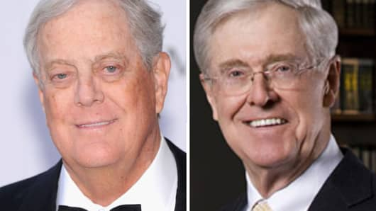 Republicans face corporate tax rebellion for Charles und david koch